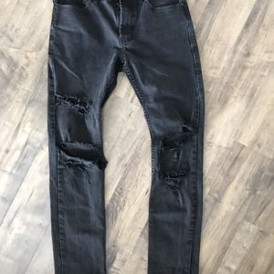 PacSun Black Destroyed Skinny Jeans 30x32
